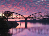 USA  Arkansas  Little Rock  Clinton Presidential Park Bridge and Arkansas River
