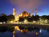 Haghia Sophia at Sunrise  (Aya Sofya Mosque)  the Church of Holy Wisdom  Istanbul  Turkey