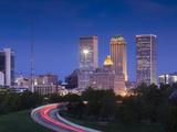 USA  Oklahoma  Tulsa  Skyline from Route 75