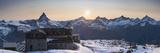 Gornergrat Kulm Hotel and Matterhorn  Zermatt  Valais  Switzerland