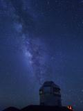 USA  Hawaii  the Big Island  Mauna Kea Observatory (4200m)  Gemini Northern Telescope and Milky Way