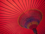 Japan  Kyoto  Higashiyama  Japanese Red Umbrella