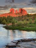 USA  Arizona  Sedona  Cathedral Rock Glowing at Sunset