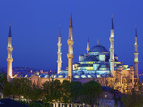 Blue Mosque at Dusk  Istanbul  Turkey