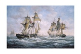 "Action Between US Sloop-Of-War ""Wasp"" and HM Brig-Of-War ""Frolic""  1812"