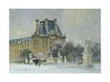 Snow in the Tuilleries  Paris  1996