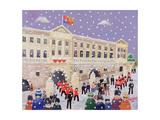 Snow at Buckingham Palace
