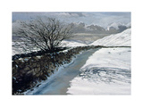 Snow Above Barbondale  Barbon  Nr Kirby Lonsdale  Cumbria