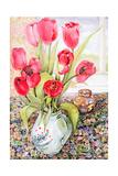 Tulips in a Rye Jug