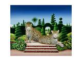 Jaguars in a Garden  1986