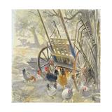 Chickens under Majorcan Cart  1994