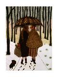 Flocons de neige Giclée par Gillian Lawson