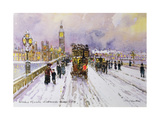 Westminster Bridge under Snow
