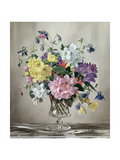 Rhododendrons  Azaleas and Columbine in a Glass Vase