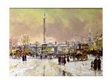 Trafalgar Square under Snow  London
