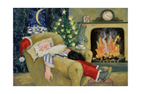 Santa Sleeping by the Fire  1995