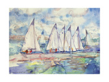 Blue Sailboats  1989