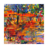 Falling Leaves, Paris Giclée par Peter Graham