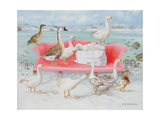 Geese on Pink Sofa  2000