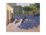 Three Children with Bicycles  Spain