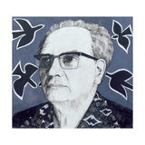 Portrait of Olivier Messiaen  Illustration for 'The Sunday Times'  1970s
