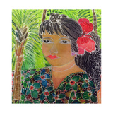 Lady with Hibiscus