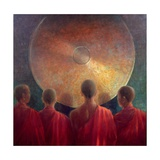 Young Monks with Gong