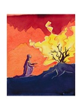 God Speaks to Moses from the Burning Bush  2004