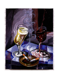Still Life with Red and White Wine  1999