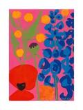 Poppy and Delphinium  1998