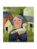 Woman with Duck  1996