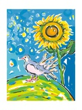 Dove and Sunflower  2004
