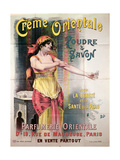 Poster Advertising 'Creme Orientale' Powder and Soap