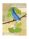 Blue Bird on Ginko