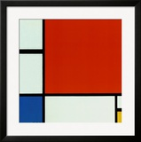 Composition with Red Blue Yellow