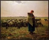 Shepherdess with Her Flock  1863