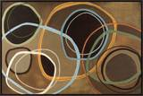 14 Friday II - Brown Circle Abstract