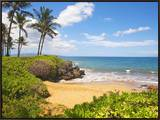 Secluded Po'olenalena Beach on Maui