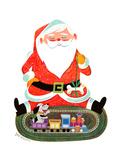 Santa with Train - Jack & Jill