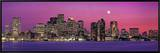 Urban Skyline by the Shore at Night  Boston  Massachusetts  USA