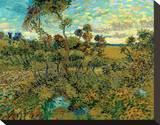 Sunset at Montmajour Tableau sur toile par Vincent Van Gogh