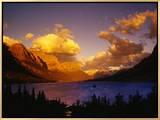 Sunrise over St Mary Lake