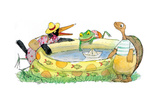 Ted  Ed  Caroll and the Swimming Pool - Turtle