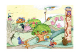 Wacky Fairy Tales - Humpty Dumpty Giclée par Marsha Winborn