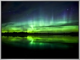 Aurora Near the Village of Clyde  Alberta  Canada