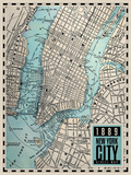 New-York City Map - 1889