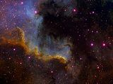 Close-Up View of North America Nebula