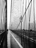 Brooklyn Bridge on Rainy Day