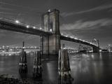 New York City  Manhattan  the Brooklyn and Manhattan Bridges Spanning the East River  USA
