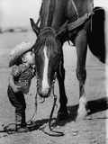 Jean Anne Evans  14 Month Old Texas Girl Kissing Her Horse